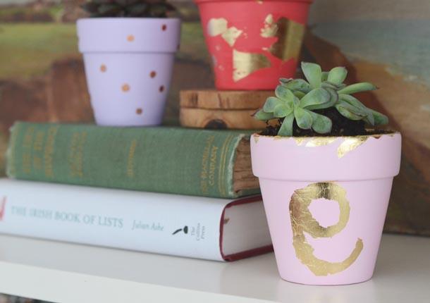 gilded plant pots 3