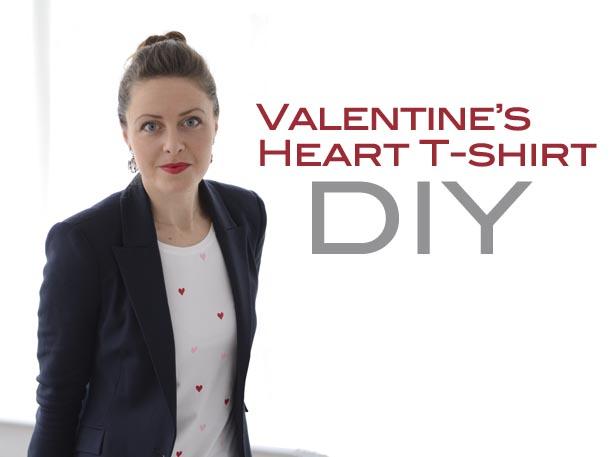 heart tshirt diy title