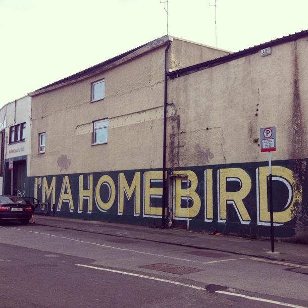 homebird street art dublin