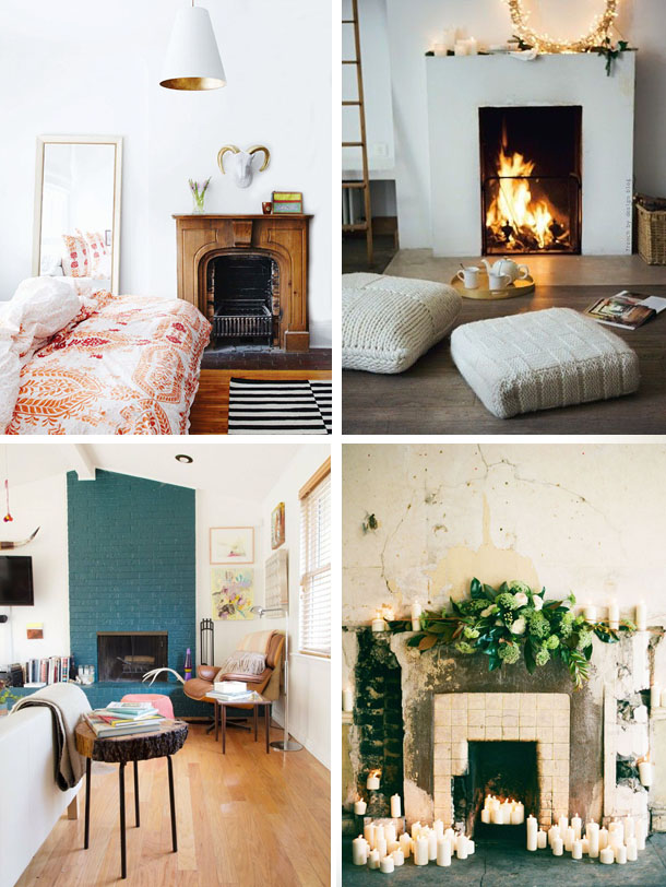 recently pinning fireplaces