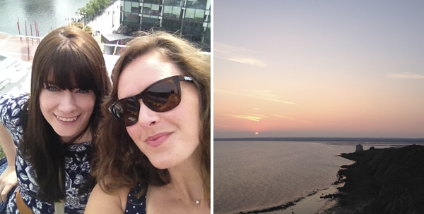 julie and sunset