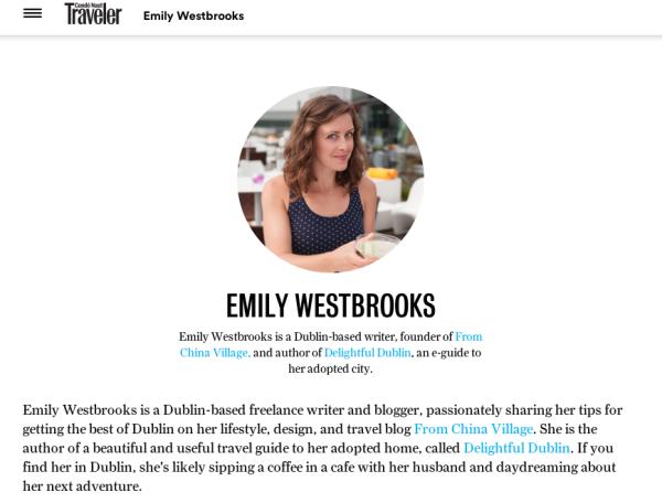 Emily Westbrooks contributor Conde Nast Traveler