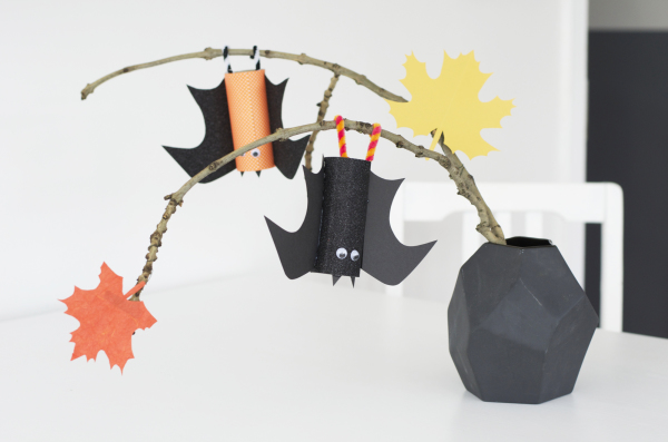 kids diy toilet roll bats for halloween