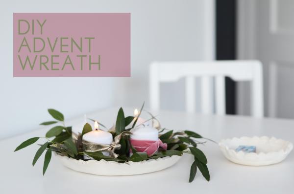 DIY Advent Wreath with eucalyptus
