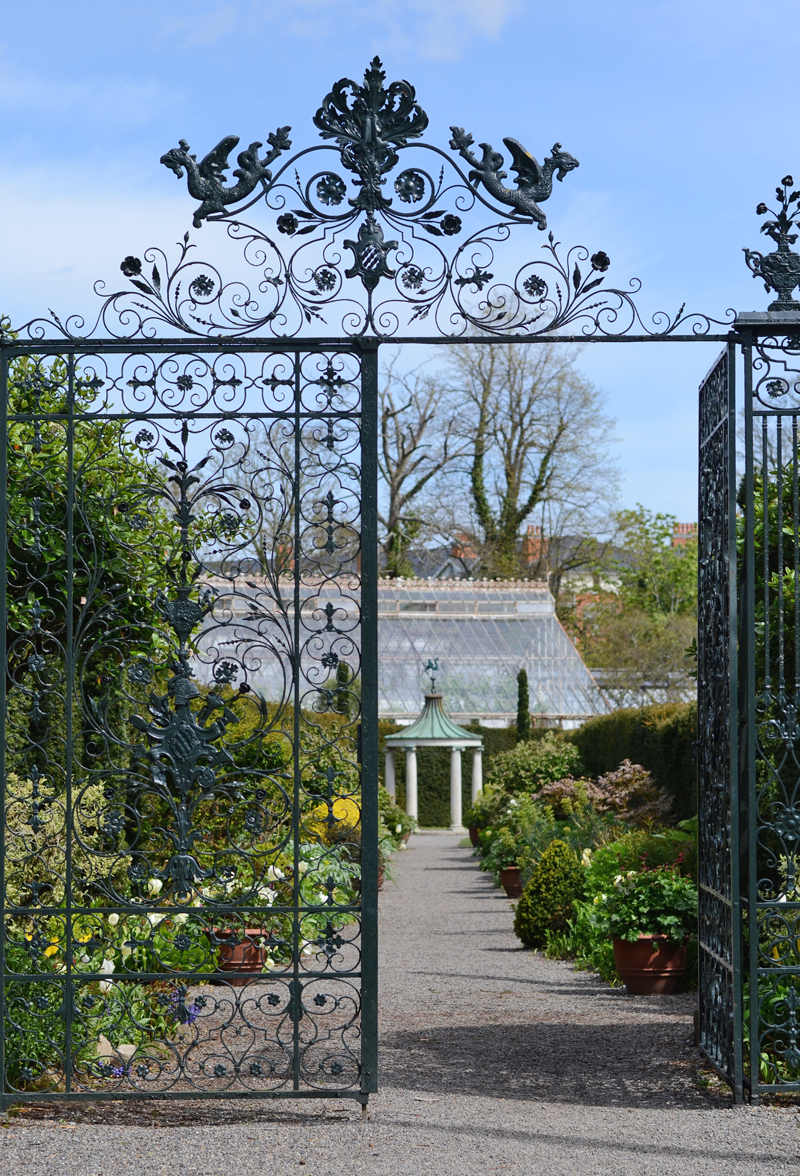 Wrought iron gates, Farmleigh, Dublin, Ireland