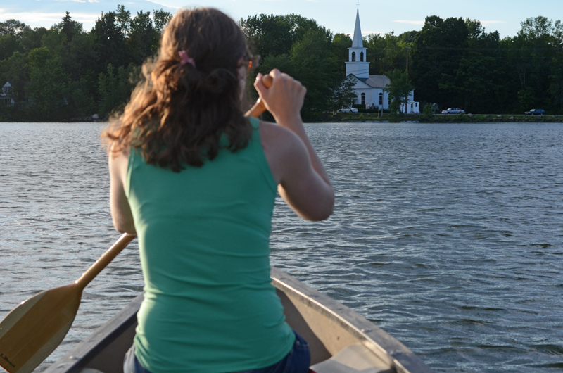 emily-canoeing-china-lake-maine