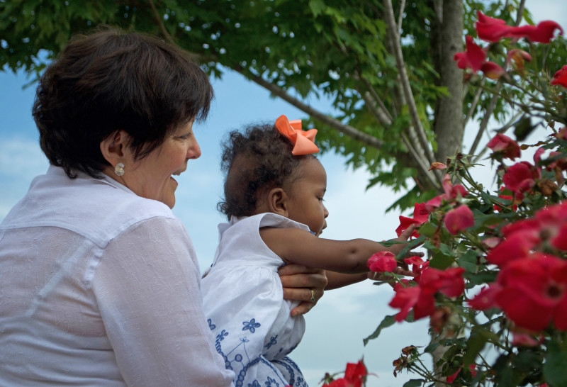 maya and grammy flowers