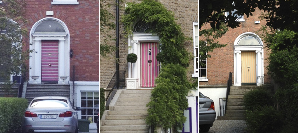 I saw a whole handful of the iconic Dublin doors covered with these stripey cloths. Like a pretty summer outfit for the doors? Are we protecting the doors ... & Dublinu0027s Georgian Doors Accessorized? u2013 From China Village pezcame.com