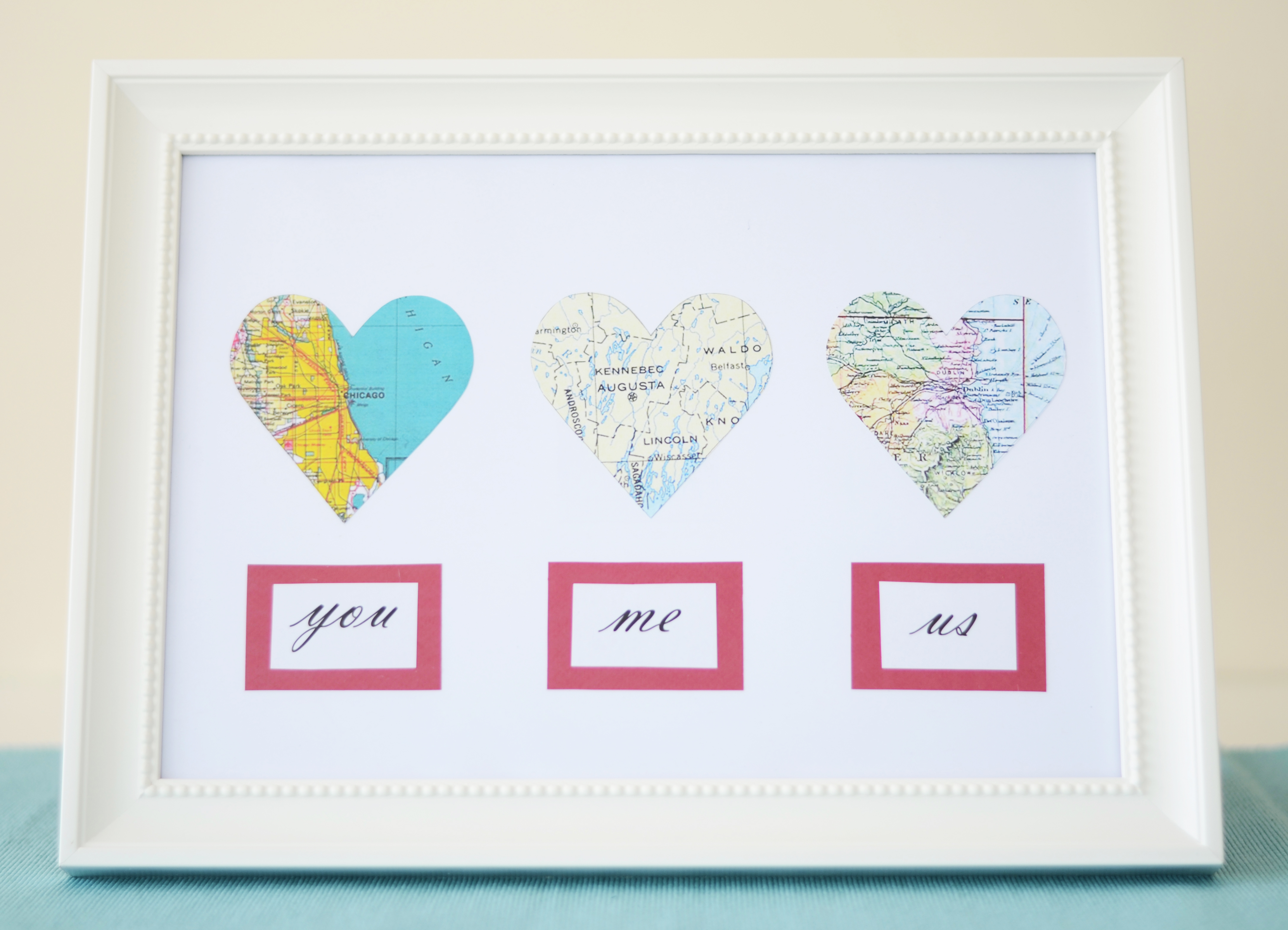 Wedding Gifts For Parents Ireland : Valentines DIY Map Hearts and My Irish Ancestry - From China Village