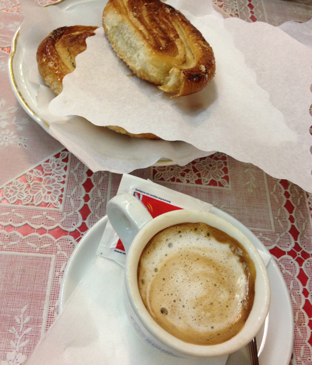espresso and palmiers