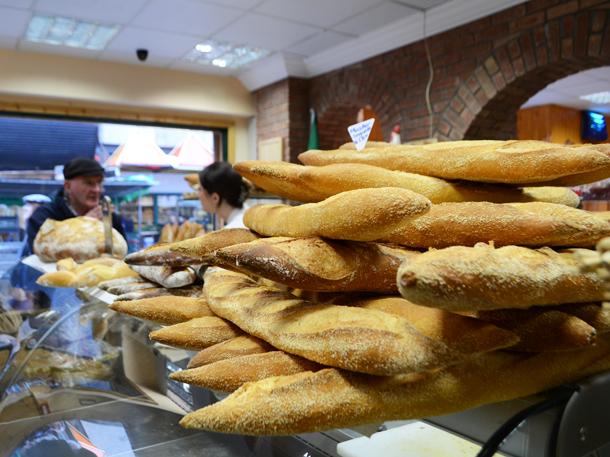 paris bakery baguette tower