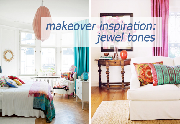 makeover inspiration jewel tones