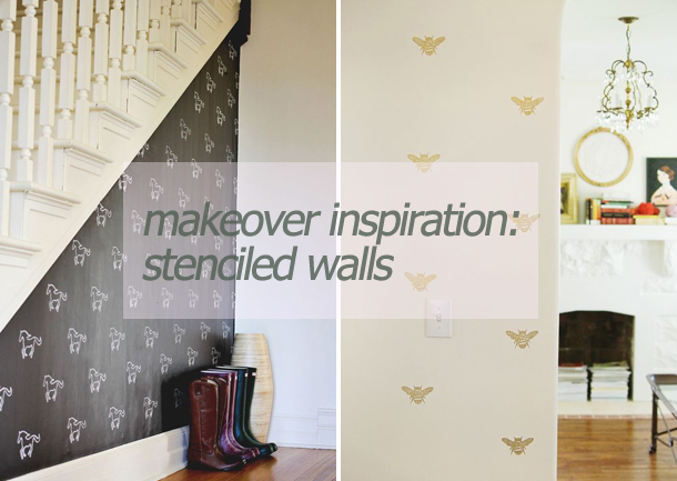 makeover stenciled walls