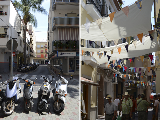 old town bunting and vespas