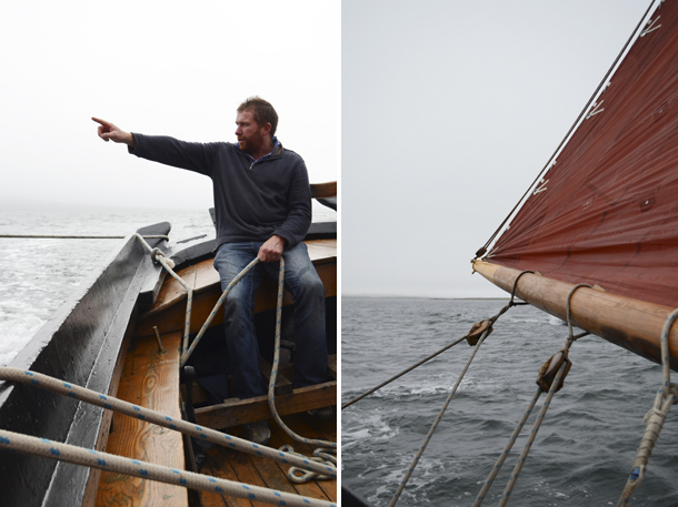 starboard side, galway hooker, connemara ireland