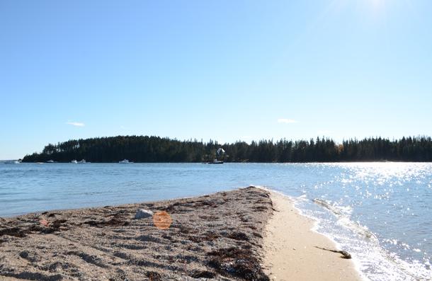 beach autumn